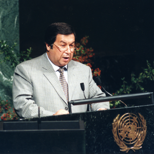 Currently disappeared former Foreign Minister Boris Shikmuradov addressing the United Nations